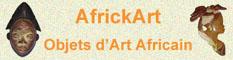 Africkart, galerie d'art africain : vente d'objets d'art africain, masques, tableaux, sculptures.